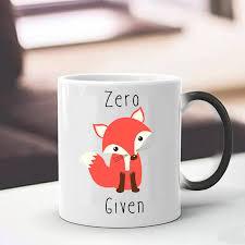 cute mugs aliexpress com buy cute zero fox given coffee mugs cup heat