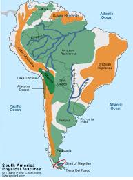 map of south america in test your geography knowledge south america physical features