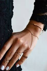 hand bracelet jewelry images Jewels gold hand chain bag nail polish bracelets chain ring jpg