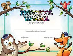 preschool diploma preschool owl fox diploma package of 25 cool school studios