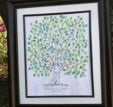 guest book alternative wedding fingerprint thumbprint tree wedding guest book