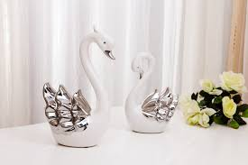 swan ornaments anniversary wedding gift to send his to a