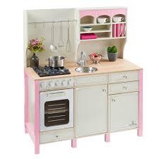 kinder spiel küche kinderküche aus holz salvia creme rosa musterkind