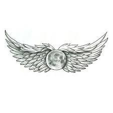 moon with wings tattoo design tattoowoo com