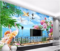 Wall Murals 3d High Quality 3d Wall Murals Peacock Wallpaper Buy Cheap 3d Wall
