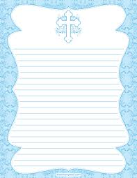 printable cross stationery