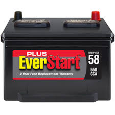 everstart plus lead acid automotive battery group size 58 3