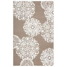 Medallion Outdoor Rug Rizzy Home Azzura Hill Light Brown Medallion 5 Ft X 7 Ft 6 In