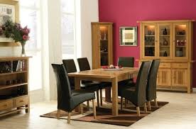 Oak Dining Room Furniture Oak Dining Room Table And Chair With Black Slipcovers Home Interiors
