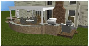 Backyard Kitchen Construction And Outdoor Grill Store U2013 Just by Timbertech Terrain Decking U2013 Columbus Decks Porches And Patios By