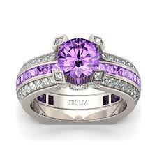 amethyst engagement ring sets jeulia interchangeable cut created lilac amethyst wedding