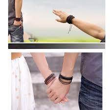 braid hand bracelet images New hot men bracelets jewelry pu leather wrist bands multi wrap jpg
