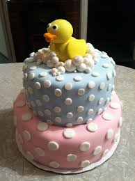 duck cake pink and blue duck cake gender reveal party cakes popsugar