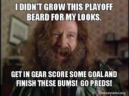 Playoff Beard Meme - i didn t grow this playoff beard for my looks get in gear score