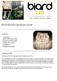 led strip light buyers guide