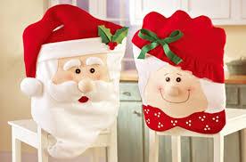 Snowman Chair Covers Festival Party Christmas Fleece Flet Santa Claus Couple Design