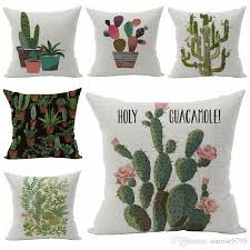 cactus home decor plant cactus cushion cover green home decor sofa chair bed almofada