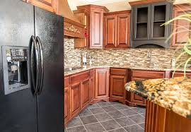 what backsplash goes with brown cabinets kitchen cabinets image galleries for inspiration