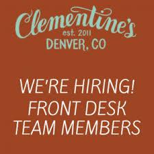 Front Desk Jobs Hiring by News U2014 Clementine U0027s Salon