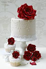 red wedding rose wedding cake u0026 cupcakes 2056605 weddbook