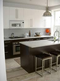 ikea open kitchen design with wooden kitchen island and white
