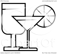 martini glasses clipart clipart of a black and white wine and martini glasses royalty