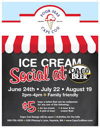 Cape Cod Brewery Hyannis - ice cream social at cape cod beer