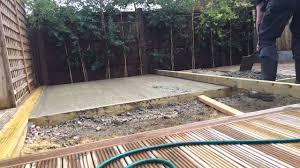 log cabin concrete slab youtube