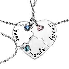 best friends puzzle necklace images Buy fashion best friend necklace set 3pieces heart shape puzzle jpg