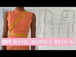 diy sewing basics how to make a basic bodice block pattern youtube