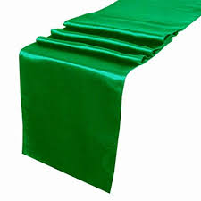 emerald green table runners amazon com ourwarm emerald green satin table runner 12 x 108 inch