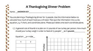 math ccss thanksgiving dinner problem by bdw resources tpt