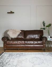 Vintage Leather Chesterfield Sofa by Vintage Leather Sofa 3 Seater Rose U0026 Grey