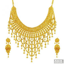 gold sets design 22k fancy gold necklace set ajns55537 22 karat yellow gold