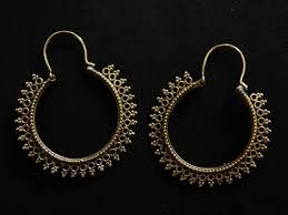 hoops earrings india a pair of indian hoop earrings designed to perfection the