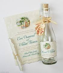 wedding invitations in a bottle wedding invitations tropical gazebo glass bottles