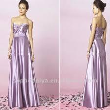 light purple long dress distinct looking pleated sweetheart long satin bridesmaid dresses