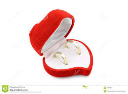 wedding ring in a box wedding rings in a heart shaped box royalty free stock photography