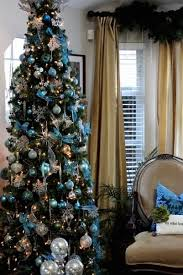 Simple Elegant Christmas Decor by Elegant Blue Christmas Decorations Designcorner