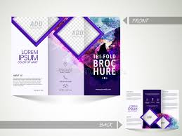 sided tri fold brochure template trifold brochure template or flyer for business stock