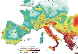 earthquake hazard map fig 1 part of the 2013 share earthquake hazard map giardini et al
