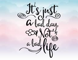 wall decals etsy just bad day not life quote iron vector svg clipart