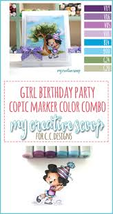 birthday party copic marker color combo my creative scoop