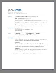 Resumes Templates Free Basic 10 Best Images Of Resume Template Sample Job Resume Template