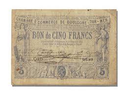 chambre de commerce boulogne sur mer 10773 bon de 5 francs boulogne mer ebay