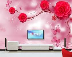compare prices on interior wood wall online shopping buy low beibehang beautiful home interior decoration painting senior wallpaper red rose dream background wall papel de parede