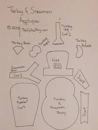 thanksgiving turkey patterns thanksgiving turkey u0026 winter snowman applique tutorial the