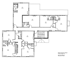 Four Square Floor Plan by Architectures Modern American Foursquare House Plans Architecture
