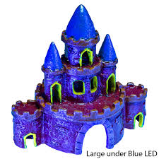 glofish castle aquarium ornaments petsolutions