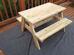 Free Plans For Round Wood Picnic Table by Kids U0027 Picnic Table 8 Steps With Pictures